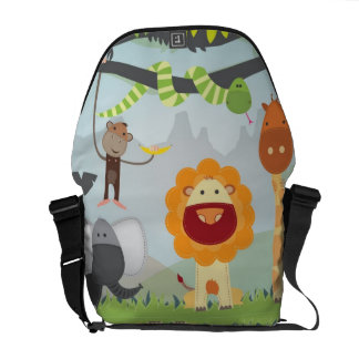 Dschungel-Spaß Kurier Tasche