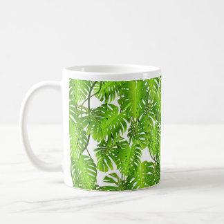 Dschungel-Tasse, Palmblatt Kaffeetasse