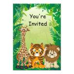Dschungel-Thema-Geburtstags-Einladungen