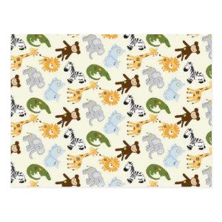 Dschungel-Tier-Muster Postkarte