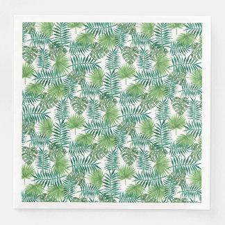 Dschungel-tropisches Blätter-elegante Natur Papierserviette