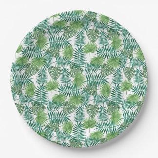 Dschungel-tropisches Blätter-elegante Natur Pappteller