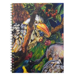 Dschungel-Vögel Spiral Notizblock