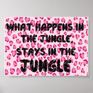Dschungel: Wanddekor Plakatdrucke