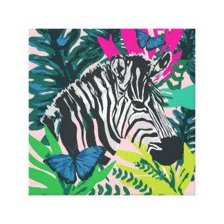 "Dschungel""Zebra-"" Druck Leinwanddruck"