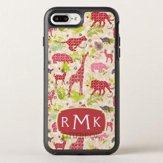 Dschungelparadies   Monogramm OtterBox Symmetry iPhone 8 Plus/7 Plus Hülle