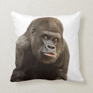 Dschungelsafari-Tier-Foto des Gorillas wildes Kissen