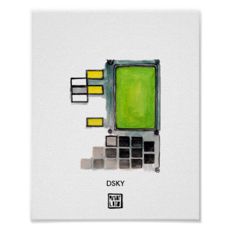 DSKY Apollo Anleitungs-Computer Poster