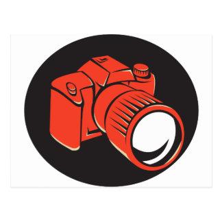 DSLR Digitalkamerafront Retro Postkarte