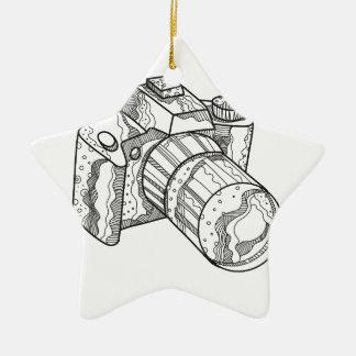 DSLR Kamera-Gekritzel-Kunst Keramik Ornament