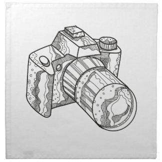 DSLR Kamera-Gekritzel-Kunst Serviette