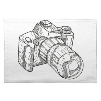 DSLR Kamera-Gekritzel-Kunst Tischset