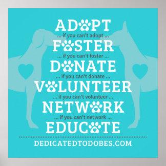 DTDR adoptieren Pflegeplakat-Blau Poster