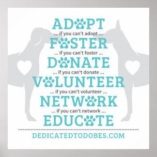 DTDR adoptieren Pflegeplakat-Weiß Poster