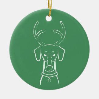 DTDR Feiertags-Verzierung - natürlicher Dobermann Keramik Ornament