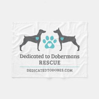 DTDR Logo-Fleece-Decken-Weiß Fleecedecke