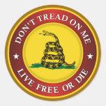 DTOM - Lebhaftfreie oder sterben Runder Sticker