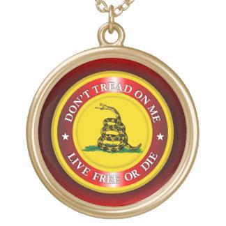 DTOM - Lebhaftfreies oder die 2 (Rot) Halskette Mit Rundem Anhänger