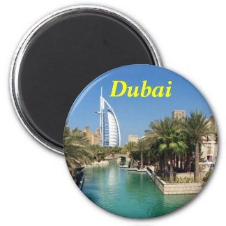 Dubai-Magnet Runder Magnet 5,7 Cm