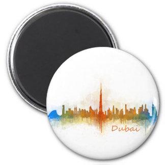 Dubai Skyline Cityscape Emirates v3 Runder Magnet 5,1 Cm
