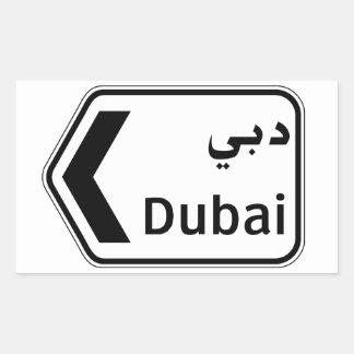 Dubai, Verkehrszeichen, Arabische Emirate Rechteckiger Aufkleber