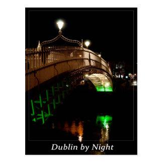 Dublin bis zum Nacht Postkarte