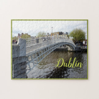 Dublin (Halfpenny-Brücke) mit Text Puzzle