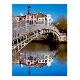 Dublin-Halfpenny-Brücke Postkarte