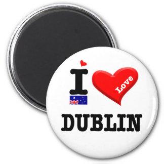 DUBLIN - i-Liebe Runder Magnet 5,7 Cm
