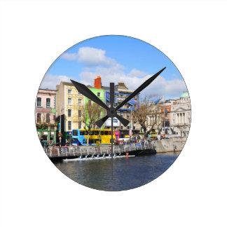 Dublin. Irland Runde Wanduhr