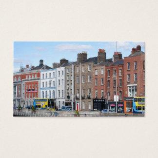 Dublin-Stadt auf dem Liffey Visitenkarte