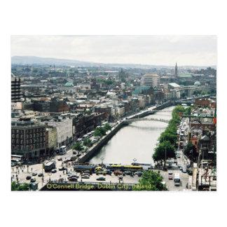 Dublin-Stadt-Skyline, O'Connell-Brücke Postkarte