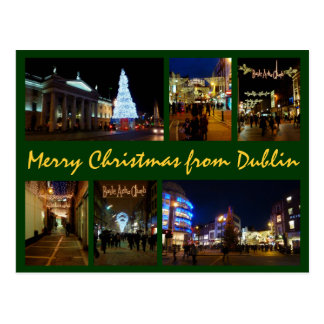 Dublin-Weihnachten Postkarte