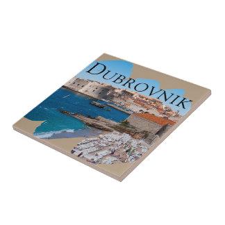 Dubrovnik mit einer Ansicht Fliese