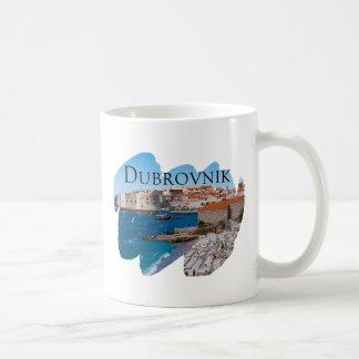 Dubrovnik mit einer Ansicht Kaffeetasse