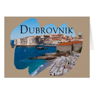 Dubrovnik mit einer Ansicht Karte