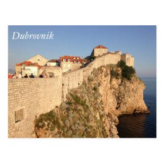 Dubrovnik-Stadt-Wände Postkarte