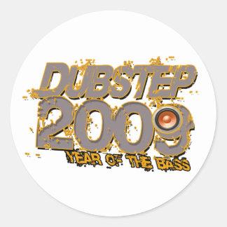 Dubstep 2009 runder sticker
