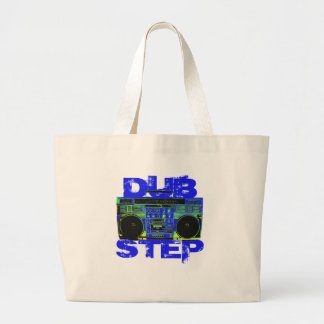 Dubstep Blau Boombox Jumbo Stoffbeutel