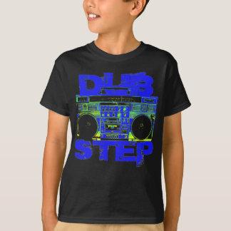 Dubstep Blau Boombox T-Shirt