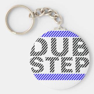 Dubstep Blau Standard Runder Schlüsselanhänger