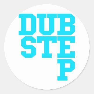 Dubstep Blockletter Runder Sticker