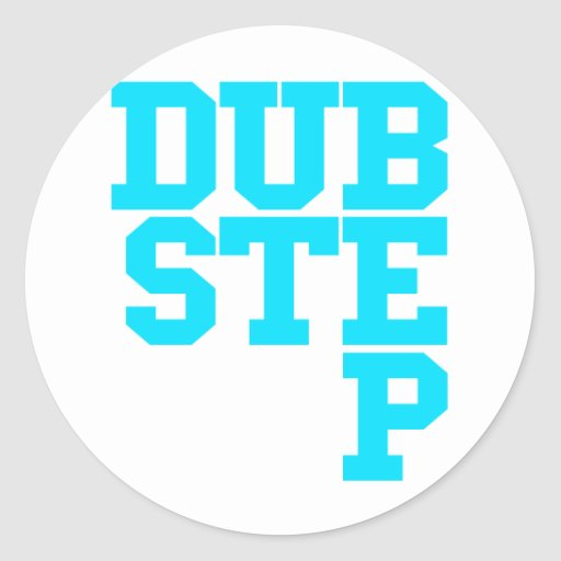 Dubstep Blockletter Stickers