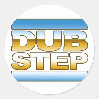DUBSTEP Chromlogo Runde Sticker