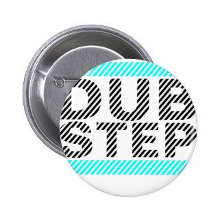 Dubstep cyan-blau runder button 5,7 cm