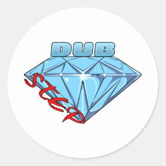 Dubstep Diamant Runde Aufkleber