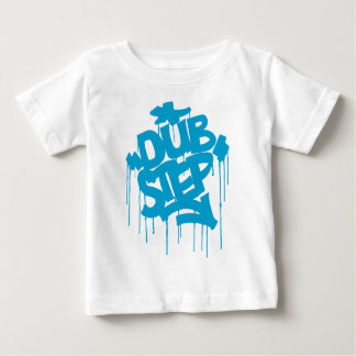 Dubstep FatCap Himmel-Blau Baby T-shirt