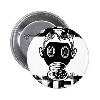 Dubstep Gasmaske Runder Button 5,1 Cm