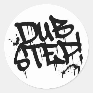 Dubstep Graffiti-Art Runder Aufkleber