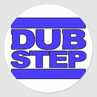 DUBSTEP Logoblau Runde Aufkleber